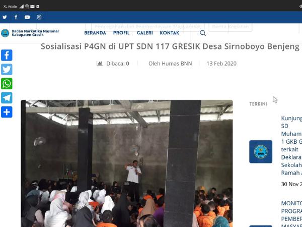 Sosialisasi Narkoba di UPT SD Negeri 117 Gresik